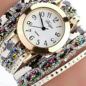 Multi Layer Wrap Around Watch Wristband Bracelet
